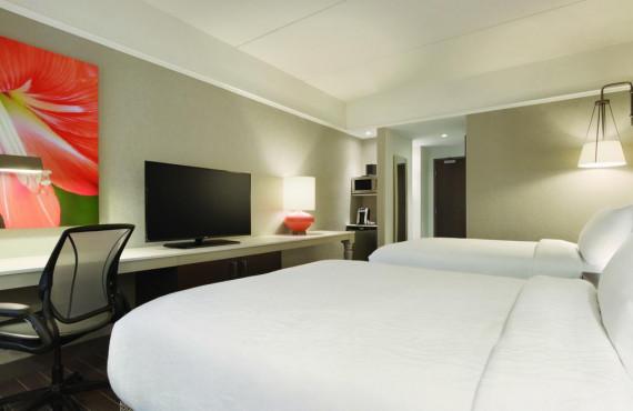 Chambre à 2 lits queen