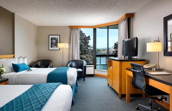 Chambre 2 lits avec vue sur le port