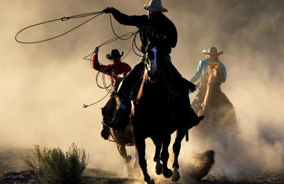 Cowboys dans un ranch d'Ashcroft