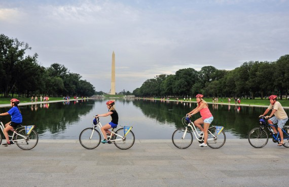 Bike ride in National Mall