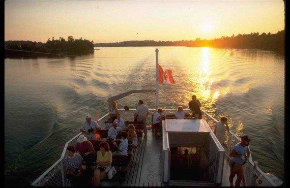 Les Mille Îles au coucher de soleil