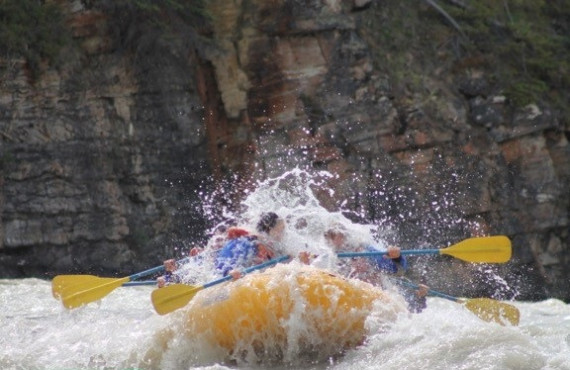 Rafting sur l'Athabasca
