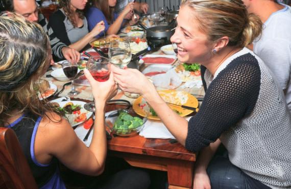Repas en famille ou entre amis