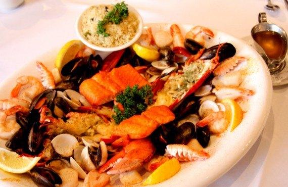 Repas de fruits de mer