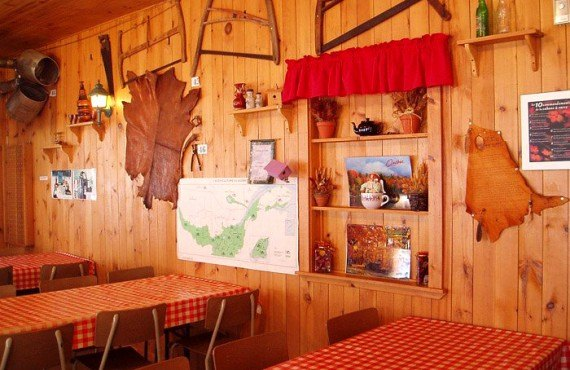 Interieur de la cabane