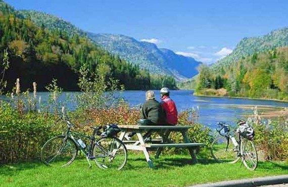 Vélo dans le Parc de la Jacques-Cartier