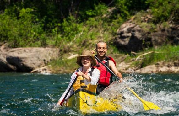 Canoeing on the Bonaventure