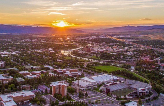 Sunset over Missoula