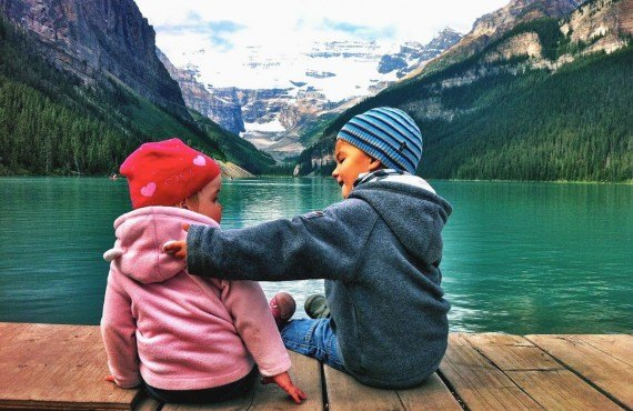 Family at Lake Louise
