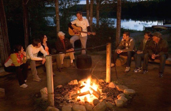 Campfire at Triton Outfitter