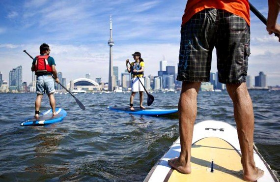 Paddle Board on Lake Ontario