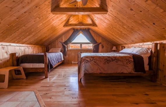 Auberge de la Pourvoirie Valga - Chambre 2 lits