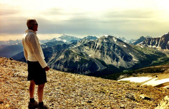 Hiking at the summit of Whistler Mountain