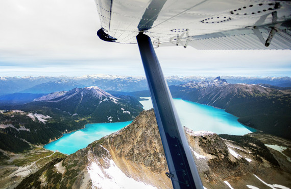 Wingshot views of Garibaldi Lake