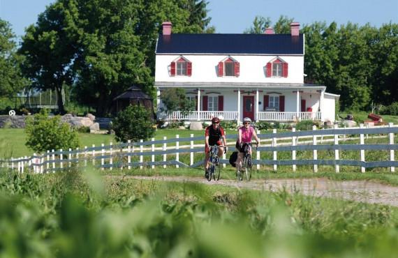 Vélo sur l'île