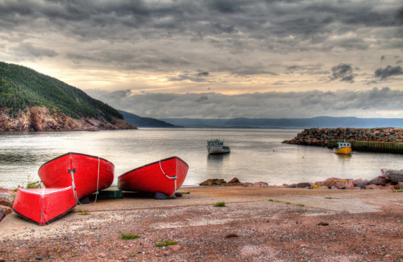 Fishing boats on Cabot Trail