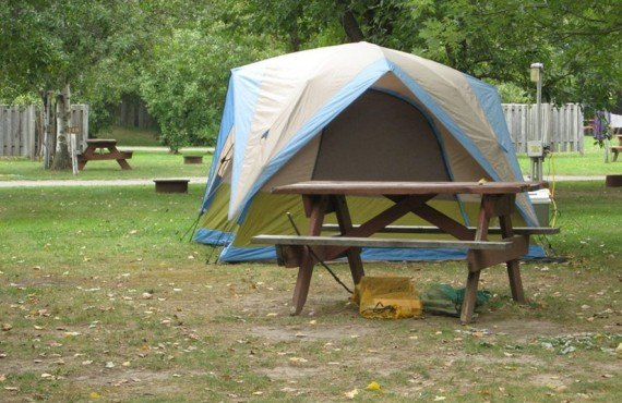 Terrain pour tente