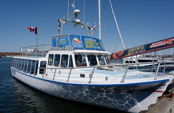 Croisière et homard. Baie de Shediac, NB