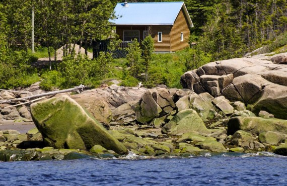 Cottage bordering the Saguenay Fjord