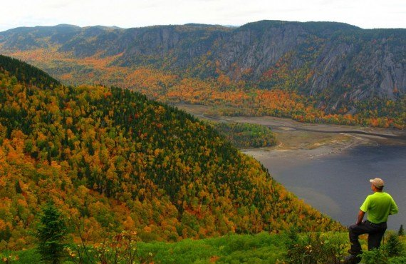 Saguenay Fjord in autumn