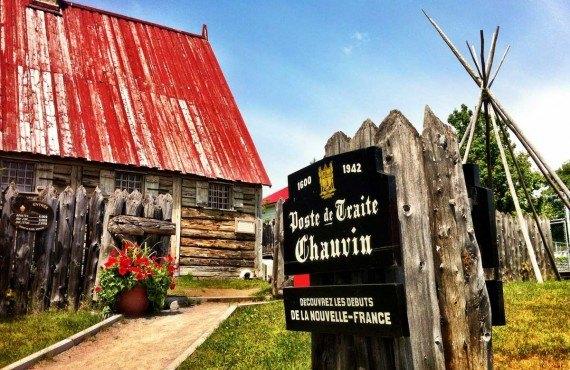 Poste de traite Chauvin in the heart of Tadoussac village