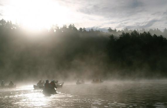 Morning canoe adventure