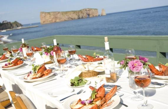 Riôtel Percé - Repas de homard