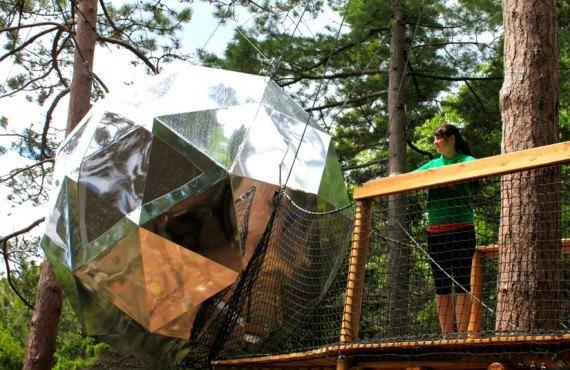 Sphère dans les arbres - Cap Jaseux