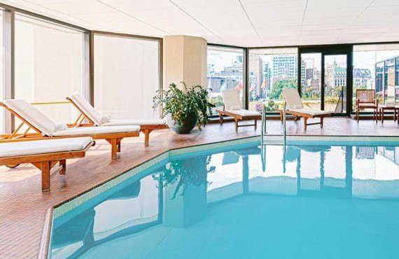 Indoor salt-water pool