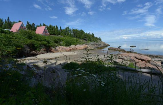 Vue spectaculaire sur l'estuaire du Fleuve St-Laurent