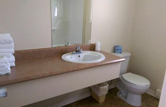 Salle de bain d'un chalet