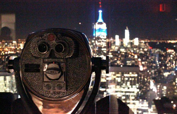 Vue sur l'Empire State Building, NY