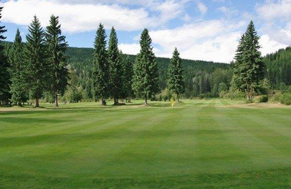 Terrain de golf sur le site