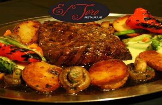 "Restaurant meal, the ""El Toro"""