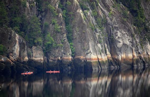 Kayak sur le Fjord