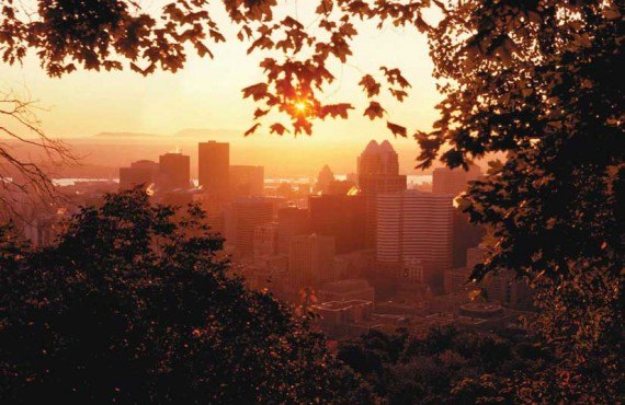 Centre-ville de Montréal vu du Mont Royal