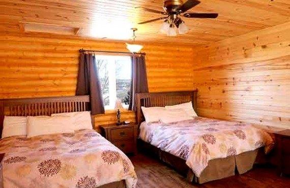 Chalets & Spa Lac St-Jean - chambre 2 lits