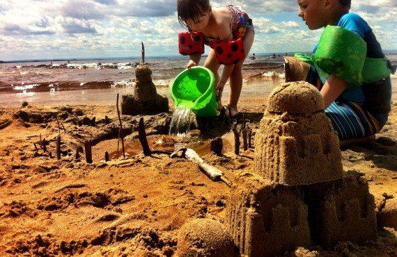 Sand castle, camping Belley beach, Lac St-Jean