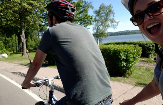 Explore île d'Orleans by bike
