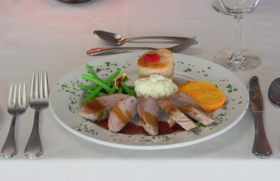 Repas servis du restaurant