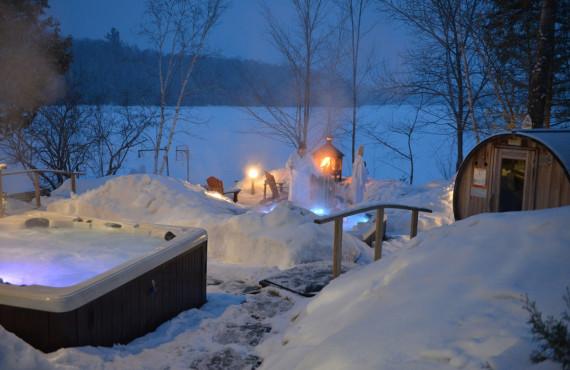 Le Spa Morency en hiver