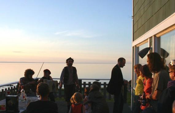Auberge Manoir des Sapins - Coucher de soleil sur la terrasse