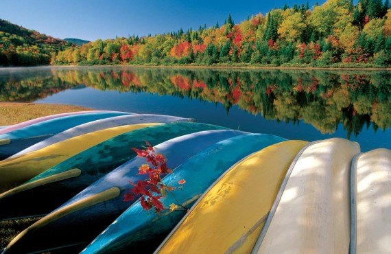 Canoe trip, Jacques-Cartier Park in the fall