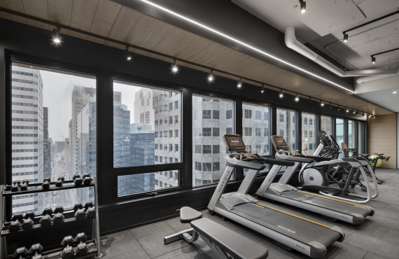 Gym and panoramic view