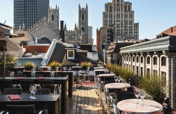 Terrasse Nelligan sur le toit de l'hôtel
