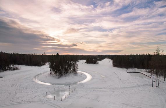 La pêche sur un lac gelé