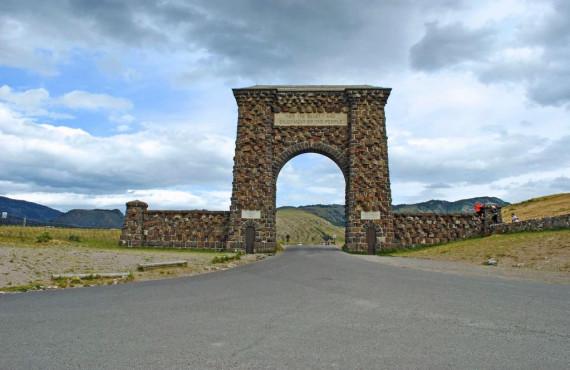 Roosevelt Arch à l'entrée du parc