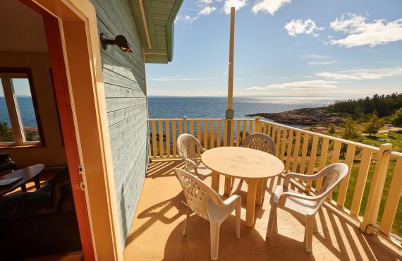 Balcon privé et vue sur la mer