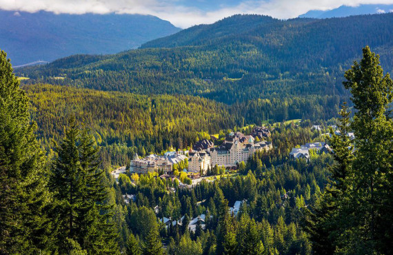 Aerial view of Fairmont Whistler Castle