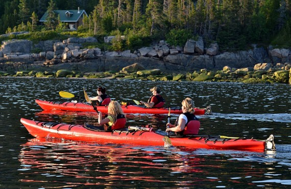 Kayaking, Saguenay Fjord